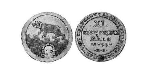 1/3 Thaler Anhalt-Bernburg (1603 - 1863) Silver Alexius Frederick Christian, Duke of Anhalt-Bernburg (1767 – 1834)