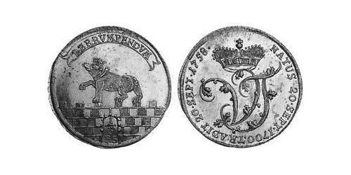 1/3 Thaler Anhalt-Bernburg (1603 - 1863) Silver Victor Frederick, Prince of Anhalt-Bernburg (1700 – 1765)