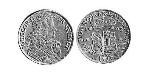 1/3 Thaler Anhalt-Dessau (1603 -1863) Silver John George II, Prince of Anhalt-Dessau (1627 – 1693)