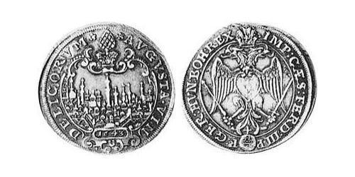 1/3 Thaler Imperial City of Augsburg (1276 - 1803) Silver Ferdinand II, Holy Roman Emperor  (1578 -1637)