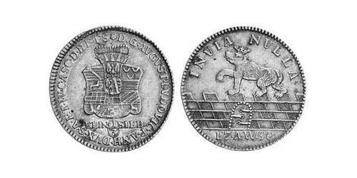 1/3 Thaler Principality of Anhalt-Köthen (1603 -1853) Silver Augustus Louis, Prince of Anhalt-Köthen (1697 – 1755)