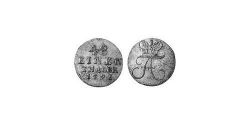 1/48 Thaler Anhalt-Bernburg (1603 - 1863) Silver Frederick Albert, Prince of Anhalt-Bernburg (1735 – 1796)