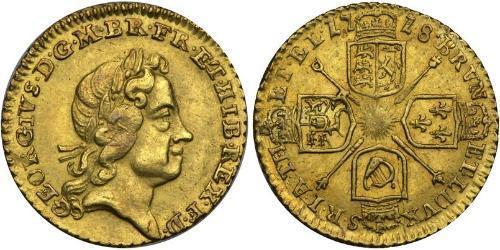 1/4 Гинея Великобритания  / Королевство Великобритания (1707-1801) Золото Георг I (1660-1727)