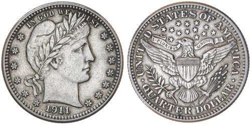 1/4 Доллар / 25 Цент США (1776 - ) Серебро/Медь