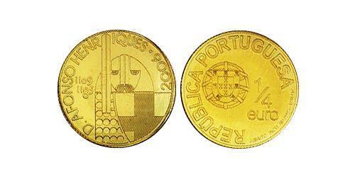 1/4 Евро Португальская Республика (1975 - ) Золото