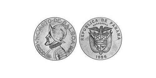 1/4 Balboa Republic of Panama Copper/Nickel Vasco Núñez de Balboa (1475 – 1519)