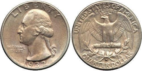 1/4 Dólar Estados Unidos de América (1776 - ) Plata