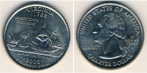 1/4 Dollar USA (1776 - ) Copper/Nickel