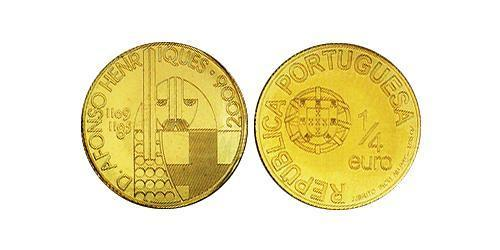 1/4 Euro Portuguese Republic (1975 - ) Gold