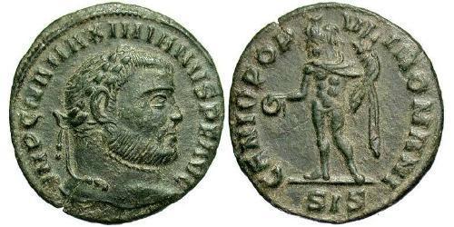 1/4 Follis Roman Empire (27BC-395) Bronze Maximianus (250-310)