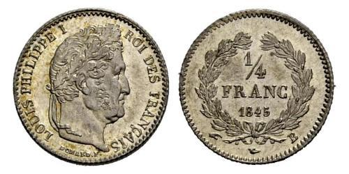 1/4 Franc 七月王朝 (1830 - 1848) 銀 路易-菲利普一世 (1773 -1850)
