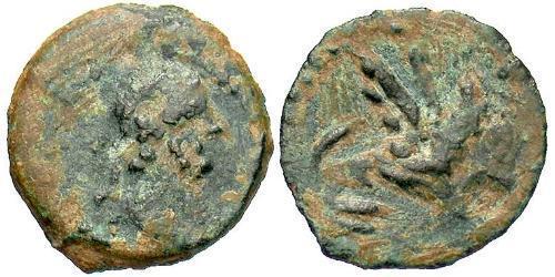 1/4 Obol Roman Empire (27BC-395) Bronze Antoninus Pius  (86-161)