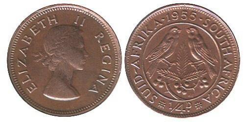 1/4 Penny Sudafrica Bronzo Elisabetta II (1926-)