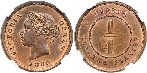 1/4 Piastre British Cyprus (1878 - 1960)  Vittoria (1819 - 1901)