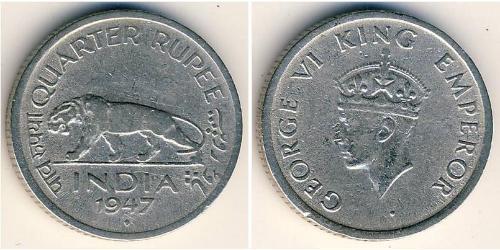 1/4 Rupee Raj Británico (1858-1947) Níquel