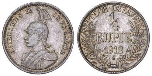1/4 Rupee German East Africa (1885-1919) Silver