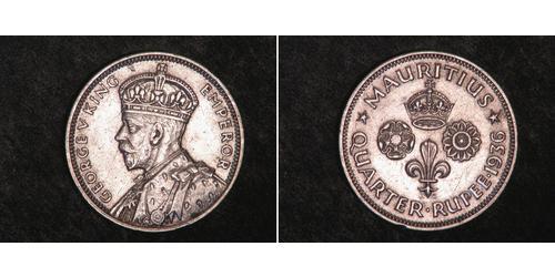 1/4 Rupee Mauritius Silver
