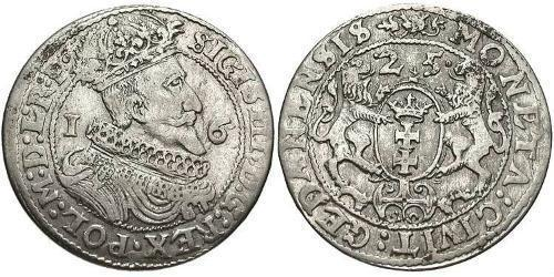 1/4 Thaler Polish-Lithuanian Commonwealth (1569-1795) / Gdansk  (1454-1793) 銀 Sigismund III of Poland