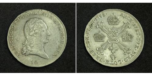 1/4 Thaler Sacro Imperio Romano (962-1806) Plata Francis II, Holy Roman Emperor (1768 - 1835)