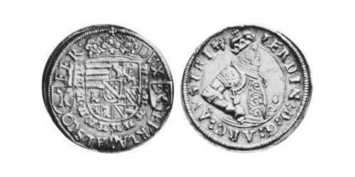 1/4 Thaler Alsace Silver Ferdinand II, Archduke of Austria (1529 – 1595)