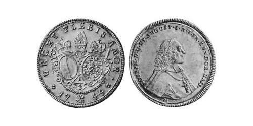 1/4 Thaler Imperial City of Augsburg (1276 - 1803) Silver Joseph Ignaz Philipp von Hessen-Darmstadt (1699–1768)
