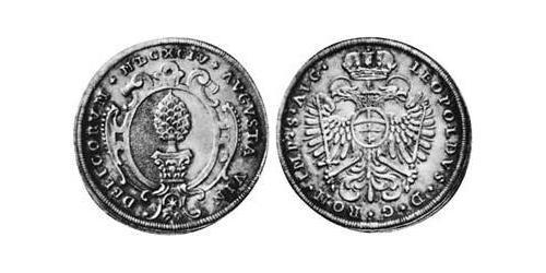 1/4 Thaler Imperial City of Augsburg (1276 - 1803) Silver Leopold I, Holy Roman Emperor (1640-1705)
