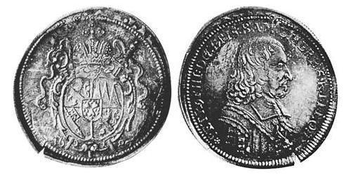 1/4 Thaler Prince-Bishopric of Bamberg (1245–1802) Silver