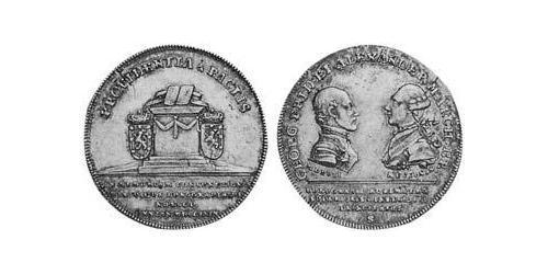 1/4 Thaler Principality of Ansbach (1398–1792) Silver Charles Alexander, Margrave of Brandenburg-Ansbach (1736 – 1806)