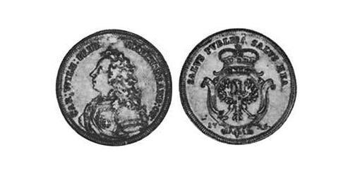1/4 Thaler Principality of Ansbach (1398–1792) Silver Charles William Frederick, Margrave of Brandenburg-Ansbach (1712 – 1757)