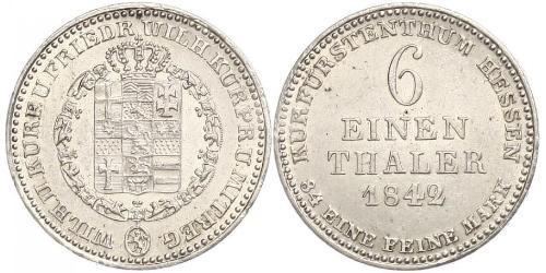 1/6 Thaler Landgrafschaft Hessen-Kassel (1567 - 1806) Silber