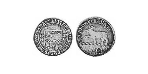 1/6 Thaler Anhalt-Bernburg (1603 - 1863) Silver Victor Frederick, Prince of Anhalt-Bernburg (1700 – 1765)