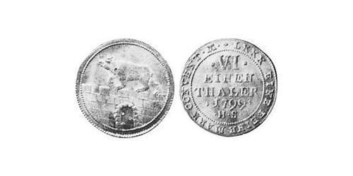 1/6 Thaler Anhalt-Bernburg (1603 - 1863) Silver Alexius Frederick Christian, Duke of Anhalt-Bernburg (1767 – 1834)