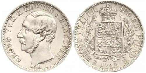 1/6 Thaler Kingdom of Hanover (1814 - 1866) Silver George V of Hanover (1819 - 1878)
