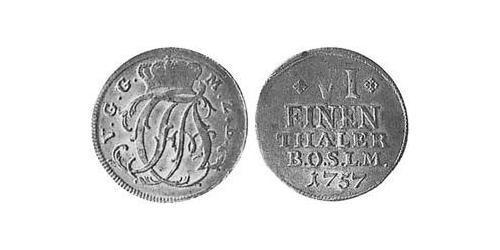 1/6 Thaler Principality of Ansbach (1398–1792) Silver Charles Alexander, Margrave of Brandenburg-Ansbach (1736 – 1806)