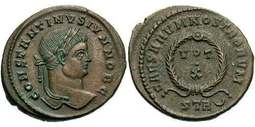 1 AE3 / 1 Фолліс Римська імперія (27BC-395) Бронза Констанцій II (317 - 361)