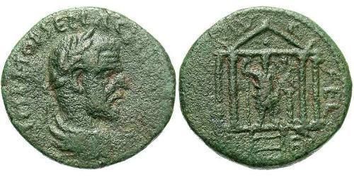 1 AE_ Roman Empire (27BC-395) Bronze Macrinus  (165-218)