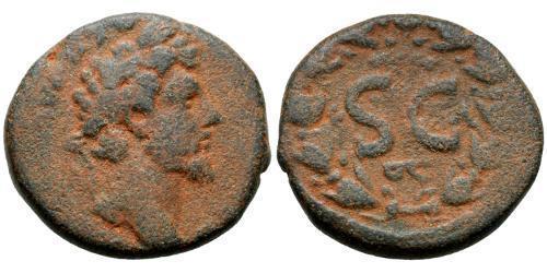 1 AE_ Roman Empire (27BC-395) Bronze Lucius Verus (130-169)