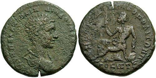 1 AE_ Roman Empire (27BC-395) Bronze Diadumenian (208-218)