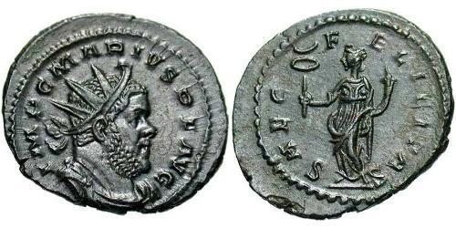 1 Antoninianus Gallic Empire (260-274) Billon Marcus Aurelius Marius (?-269)