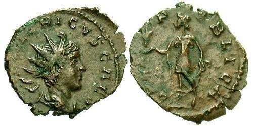 1 Antoninianus Gallic Empire (260-274) Bronze Tetricus II (?-?)