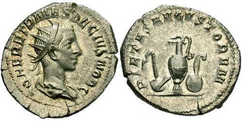 1 Antoninianus Roman Empire (27BC-395) Bronze Herennius Etruscus (227-251)