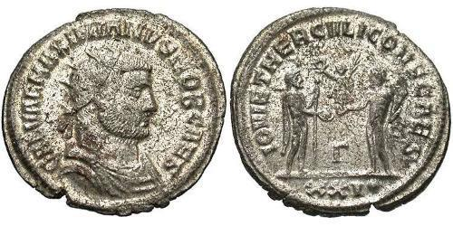 1 Antoninianus Roman Empire (27BC-395) Bronze Galerius Maximianus (260-311)