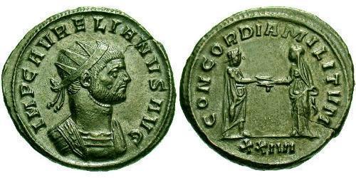 1 Antoninianus Roman Empire (27BC-395) Bronze Aurelian (215-275)