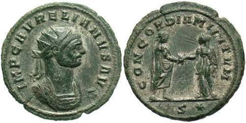 1 Antoninianus Roman Empire (27BC-395) Copper/Silver Aurelian (215-275)