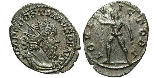 1 Antoninianus Gallic Empire (260-274) Silver Postumus (260-268)