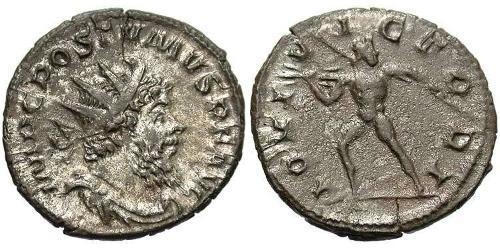 1 Antoninianus Gallic Empire (260-274) Silver Postumus (260-268)