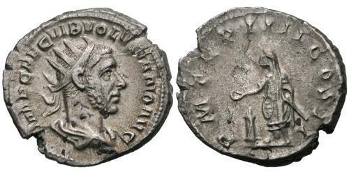 1 Antoninianus Roman Empire (27BC-395) Silver Volusianus (235-253)