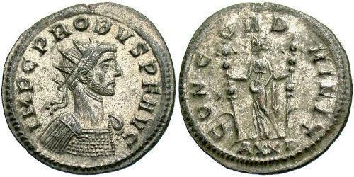 1 Antoninianus Roman Empire (27BC-395) Silver Probus (232-282)