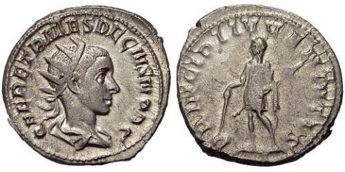1 Antoninianus Roman Empire (27BC-395) Silver Herennius Etruscus (227-251)
