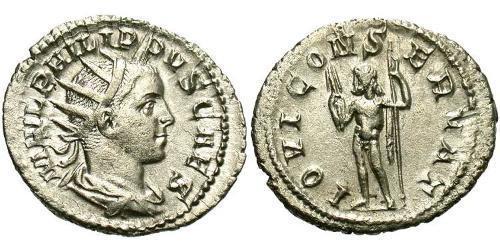 1 Antoninianus Roman Empire (27BC-395) Silver Philip II (237-249)